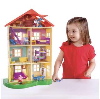 (Instock) Peppa Pig Lights and Sounds Family Home Playset