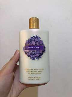 Love spell victoria's secret lotion #maudecay