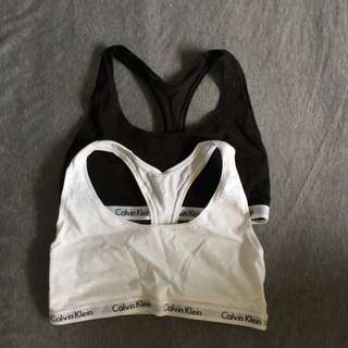 🚚 全新 Calvin Klein 運動內衣 僅剩白色(無內襯)