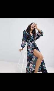Monki Floral Midi Dress