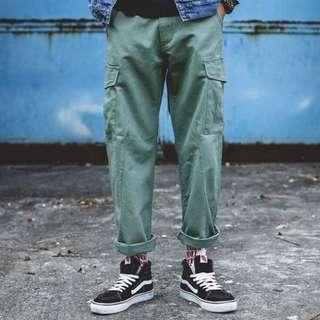 (含運)軍裝口袋長褲
