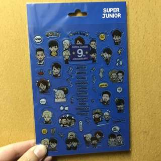 Super Junior 9週年 官方貼紙