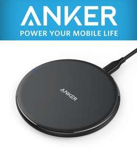 全新 Anker PowerPort Wireless 5 Pad Slim Charger 無線快充座 送保護殼