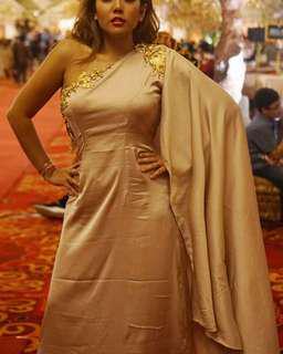 Roman gold premium dress
