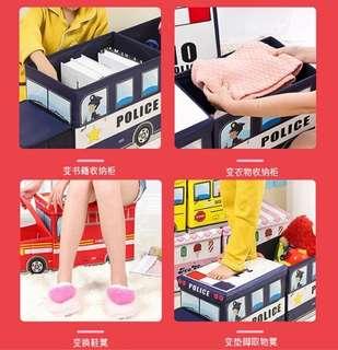 🚍Multipurpose Cartoon Vehicle Storage Box /Stool