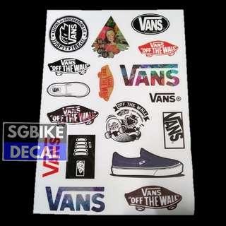 Vans Waterproof sticker set
