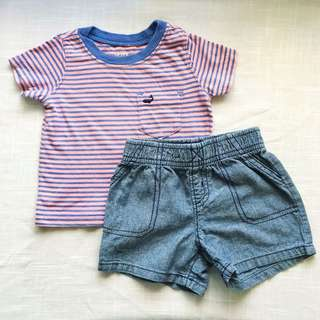 Carter's Baby Boys' Shirt and Shorts (6 mos)