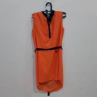 Et Cetera Orange Dress