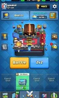 Clash Royale 4000 trophies lvl11 legendary