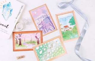 (PO) Painted Pieces Postcards/ Post Cards