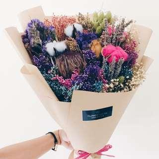Designer Cotton mixed dry flowers bouquet