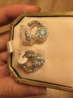 Juicy couture heart earings 心形耳環 new real