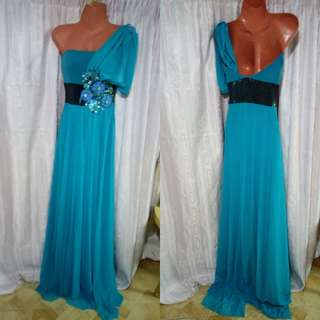 Haltes Blue Green Long Gown