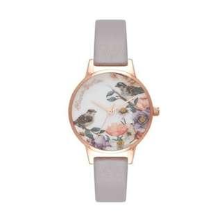 英國品牌 Olivia Burton London Watch 魔法花園 氣質百搭 可愛動物 真皮錶帶 女 手錶 30mm (OB047)