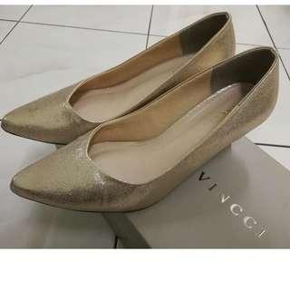 Vincci Champagne Gold Heels (Original Price RM89.90, Selling at 1/2 Price)