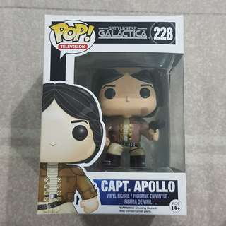 Legit Brand New With Box Funko Pop Television Battlestar Galactica Capt. Apollo Figure