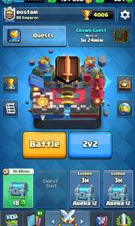 Clash Royale lvl 10 legendary 4000 trophies