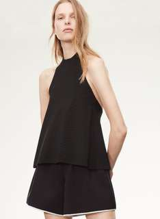 Aritzia Le Fou knit backless halter top xs