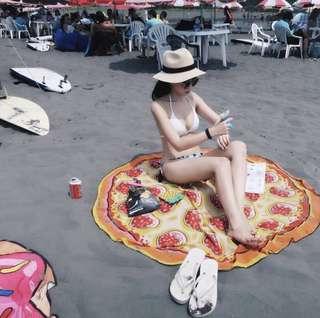 包郵🌈大熱夏日Pizza🍕型格沙灘布 連包裝禮盒