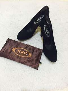 Authentic Tod's Decollete Suede Pumps