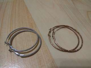 🚚 C型圈 大耳圈耳環 金色/銀色