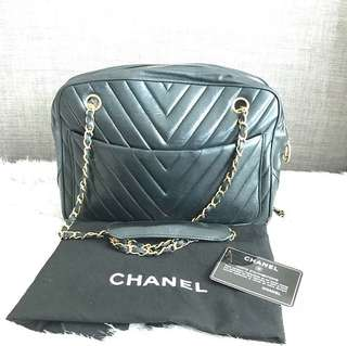 Vintage Chanel Chevron Chain Bag