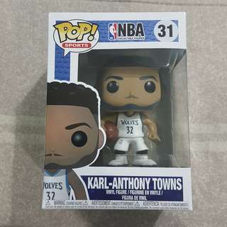 Legit Brand New With Box Funko Pop Sports NBA Karl Anthony Towns Minnesota Timberwolves Toy Figure