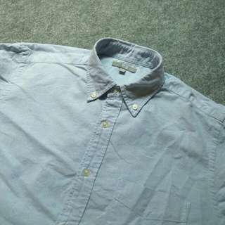 UNIQLO Blue Button Down Oxford Shirt Long Sleeve Size M