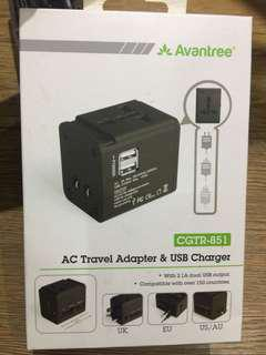 Travel Adapter Charger USB (AVANTREE)
