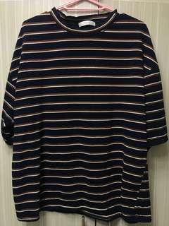 Korean Boxy Stripe Shirt