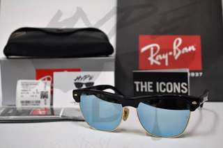 Rayban Clubmaster Oversized RB4175 877/30 57MM Blue Chrome Mirror.