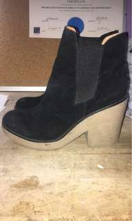 Urban outfitters black ankle boots 8.5