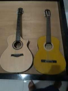 Jual 2 gitar sekaligus coboy akustik ori yamaha nylon custom