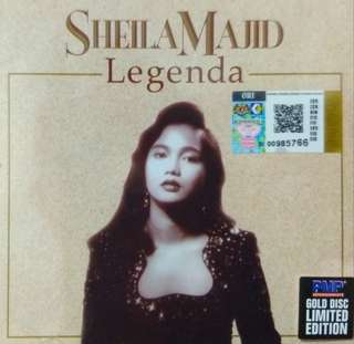 arthcd SHEILA MAJID (Malaysia Singer) Legenda Limited Edition GOLD CD (Brand New Sealed) Malay Songs