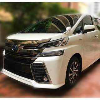 2017 Toyota Vellfire 2.5 / 3.5 (A) PILOT Leather with S/ROOF