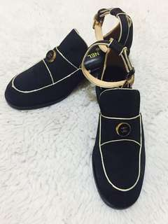 Authentic Chanel Ankle Strap Loafers