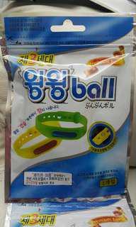 最新款韓國製Mosball第二3代驅蚊帶嗡嗡圈 BB 小朋友 爸爸 媽媽 全天然 手帶 腳帶 Korea