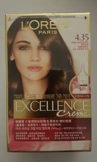 Brand new and sealed Loreal Paris excellence creme 4.35 dark chocolate