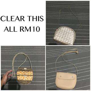 CLEARANCE! EACH RM10!