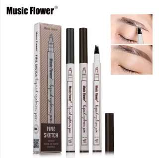 💄 Music Flower Embroidery Eyebrow Pencil