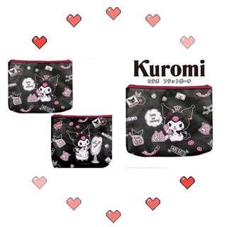 日本🇯🇵正貨Kuromi 收納化妝包 橫22cm 高18*3cm📮包郵