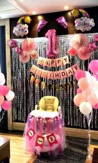 Birthday Decoration Setup Dessert Backdrop Event