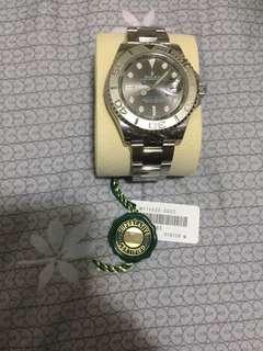 全新水貨Rolex yacht master 116622 灰面藍針