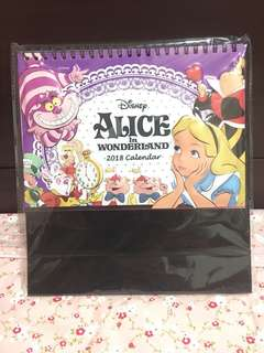 愛麗絲 ALICE  迪士尼 夢遊仙境 2018年 年曆