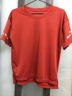 🚚 短上衣+短褲 休閒套裝 短袖套裝 橘紅