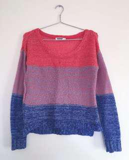 Garage Tri-Colour Knit Sweater
