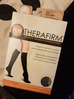 Therafirm Compression Hosiery - Women's Trouser Socks (Med 15-20mmHg)