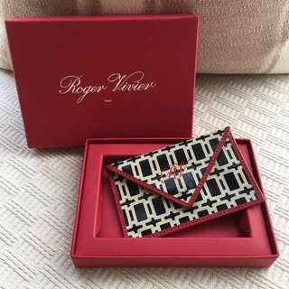"Roger Vivier RV     "" Miss X ""  coin bag / card holder"