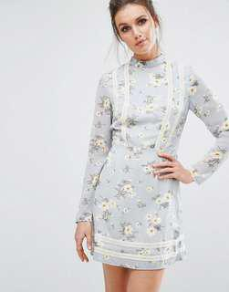 Misguided Floral Tea Dress