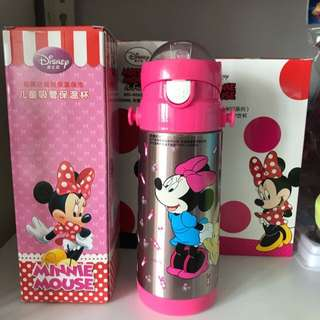 🚚 Brand new. Thermal Straw Water Bottle for Kids. Stainless Steel. BPA-free